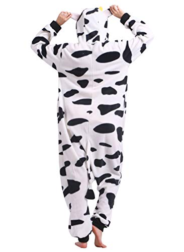 Unisexe Outfit Deguisements Pyjama Costume Onesie Kigurumi Nuit De Animal Halloween Adulte Vetements Anime Vache Cosplay Soiree Combinaison qwBqgd0