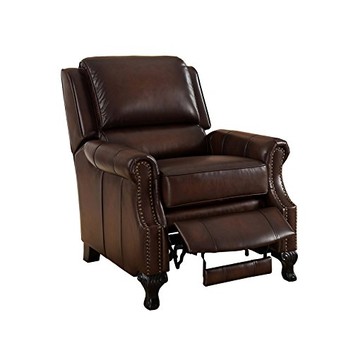 AMAX Leather - Milari 100% Leather Recliner, Brown