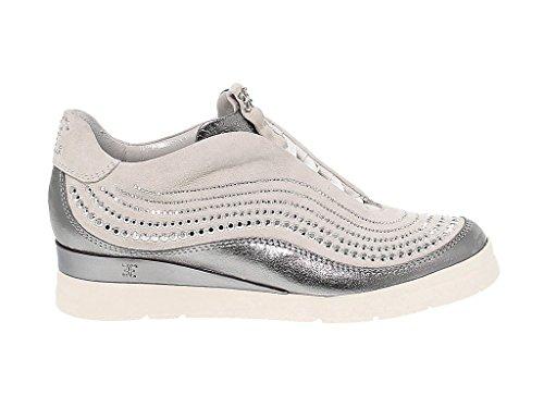 FD4161SILVER Sneakers Donna Fabi Pelle Argento 8F7Bwv