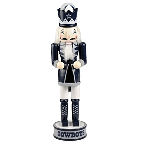 Dallas Cowboys Official NFL 14 inch 14'' Christmas Holiday Nutcracker by Forever Collectibles