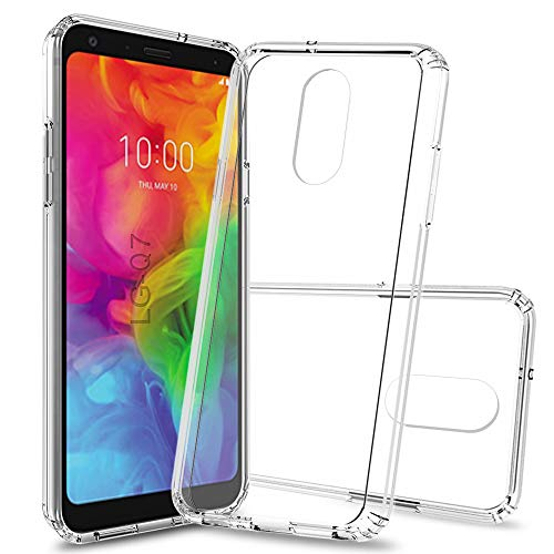 LG Q7 Case,LG Q7 Plus Case, LG Q7+ Case, LG Q7 Alpha with HD Screen Protector, Scratch Resistant Ultra-Thin Anti-Slip TPU Bumper Protective Cell Phone Cover for Girls Women LG Q7 TM Clear