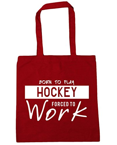 Hockey HippoWarehouse Tote Bag to Gym Born Forced 42cm x38cm 10 to Work Classic Shopping Play Beach Red litres xrwCtqrHcS
