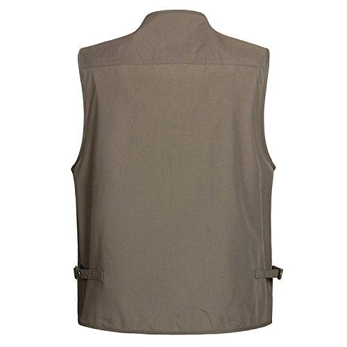 UGGKA US Men's Casual Outdoor 16 Pockets Journalist Fishing Photo Travel Vest Plus Size by UGGKA US (Image #1)