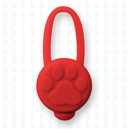 Hunde Leuchtanhänger Leuchthalsband Led Hundehalsband LH10 Blinkie von Leuchthund® Led Anhänger Silikon (rot)