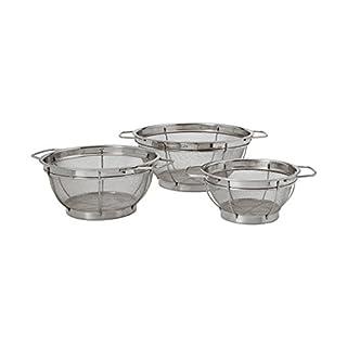 Farberware Stainless Steel Colander Sieves - Set of 3, Multi Sized -