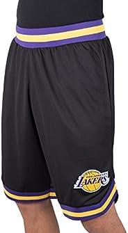 Ultra Game NBA Los Angeles Lakers Mens Woven Basketball Shorts, Team Color, Small