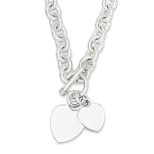 """Coeur-Argent 925/1000 Double disque Fancy Bracelet JewelryWeb 7,75 """""""