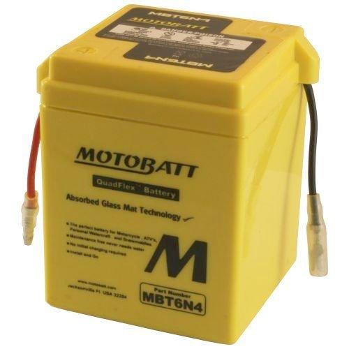 - Motobatt MBT6N4 6V 4Ah Motorcycle Battery Replaces 6N4-2A