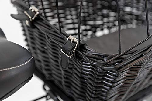 TRIXIE Panier Vélo avec Grille pour Chien Noir 35 x 49 x 55 cm