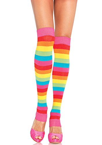 Leg Avenue Women's Rainbow Leg Warmers, Multi, One Size