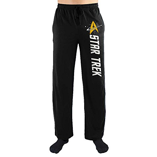Star Trek Emblem Black Quick Turn Sleep Pants (Large)