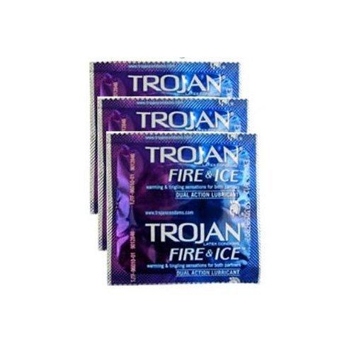 Trojan Pleasure Fire & ICE Dual Action Ultrasmooth Lubricated Premium Latex Condoms - 6 Travel Packs 3 Condoms in Each Pack (18 Condoms Total) -Tj12 by Trojan (Image #4)