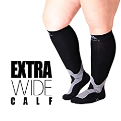 See Pictures for Size Chart i>Created for men and women Medical Grade Firm Graduated Compression Socks 20-30 mmHg - Tightest at the ankle gradually decreasing up the leg creates a pumping effect. Helps with swollen ankles and legs - Great ...
