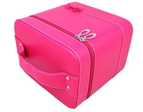 HOYOFO Makeup Case for Women Cosmetic Storage Box Makeup Train Case (2 Bags/set) (Red) by HOYOFO (Image #3)