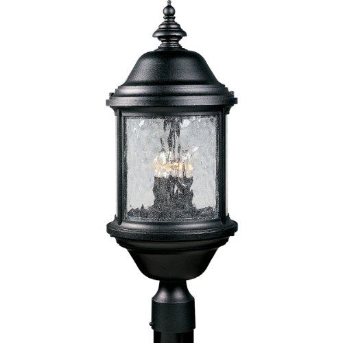 Progress Lighting P5450-31 3-Light Ashmore Post Lantern, Textured Black