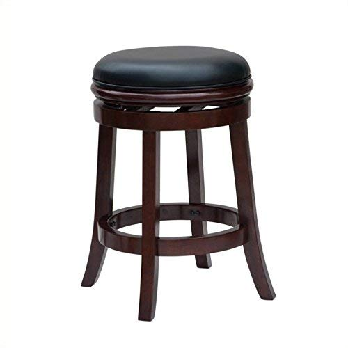 Boraam 44229 Backless Bar Height Stool, 29-Inch, Cherry