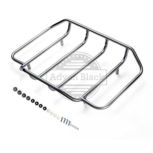 (US STOCK! Air Wing Tour Paks Pack Luggage Rack Fit for 2014 2015 2016 2017 2018 Harley Davidson/Advanblack Hard Tour Pack Luggage Trunk Suitcase (Chrome))