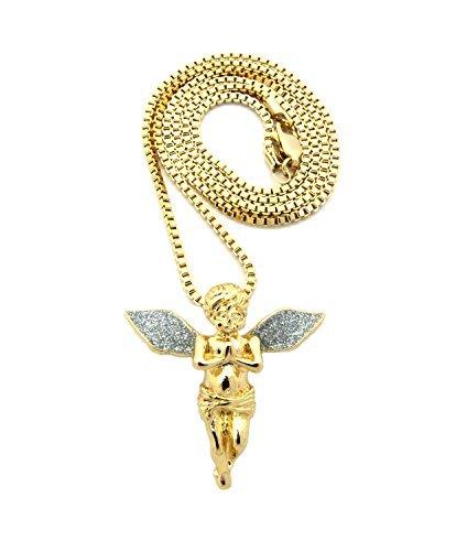 Gold Baby Angel Pendant - 4