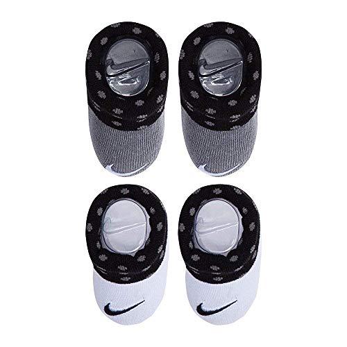 - Nike Newborn Infant Booties 2-Pair Pack (0-6 Months, Cool Grey (K26))