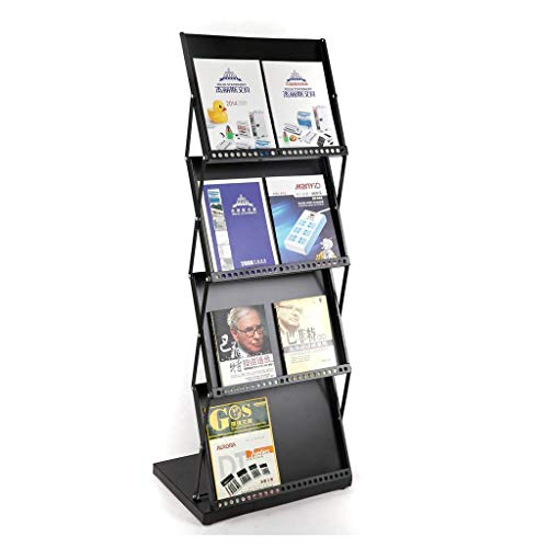 LQQFF Folding Floor Display Stand Folding Magazine Rack Office brochure Display Stand Portable Floor Display Stand Brochure Display Stand