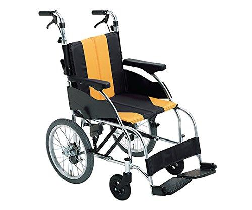 ミキ7-2403-06車椅子(アップライト)イエロー介助式 B07BD35NJB