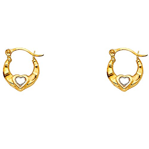 Solid 14k Yellow Gold Oval Hoop Earrings Hollow Sand / Brushed & Polished Finish Design 35 x 30 mm