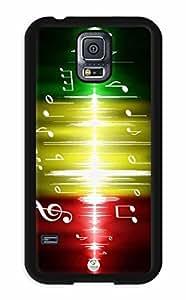 iZERCASE Samsung Galaxy S5 Case Rastafari Reggae Colors Music Beats RUBBER - Fits Samsung Galaxy S5 T-Mobile, AT&T, Sprint, Verizon and International