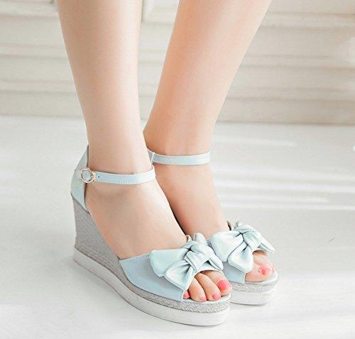 Belle Compens Noeud Femme Aisun Chaussures wgS0qfq8