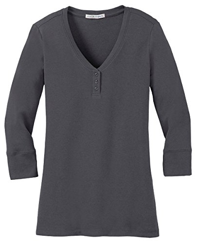 - Port Authority Women's Concept 3/4-Sleeve T-shirts_Grey Smoke_XX-Large