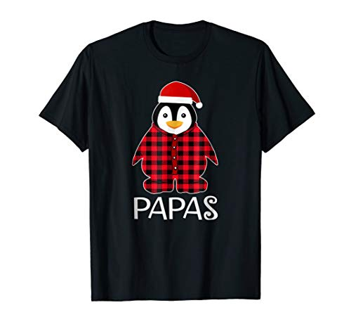 Papas Penguin Pajamas Ugly Family Christmas Season Tshirt