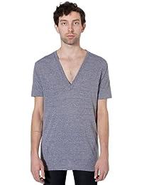 Men's Unisex Tri-Blend Short Sleeve Deep V-Neck