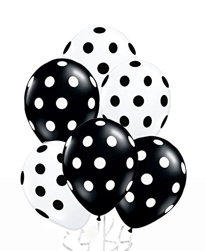 Black And White Striped Balloons (AnnoDeel 50 Pcs 12