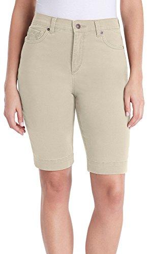 Gloria Vanderbilt Womens Amanda Shorts 12 Perfect khaki beige Womens Perfect Khaki Shorts