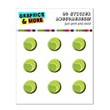 Graphics and More Tennis Ball Sporting Goods Sportsball Home Button Stickers Fits Apple iPhone 4/4S/5/5C/5S, iPad, iPod Touch - Non-Retail Packaging - Clear
