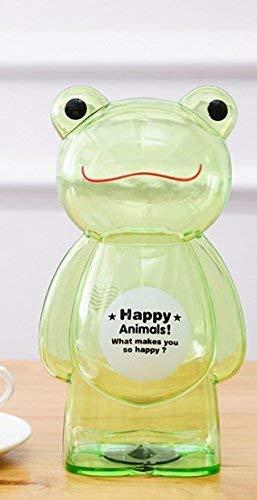 (WHXYAA Plastic Transparent Animal Cartoon Piggy Bank Creative Children Saving Box (Green Frog) Desktop Decor Money Box)