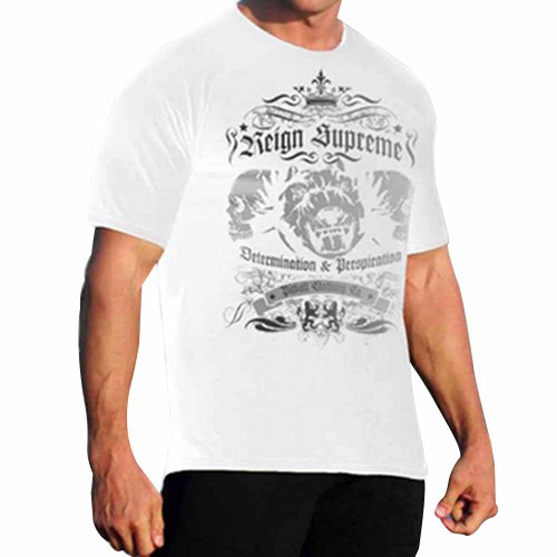 Mens Tee Reign Supreme by Pitbull in White - X-Large
