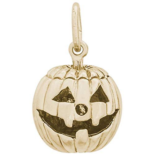 Rembrandt Charms, Pumpkin Jack O' Lantern, 14k Yellow Gold ()