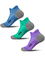 Anti-Blister Running Socks -Track Socks Women Men For Marathon Runners, No Show Low Cut Comfort Sweat Resistant Socks, 3Pair