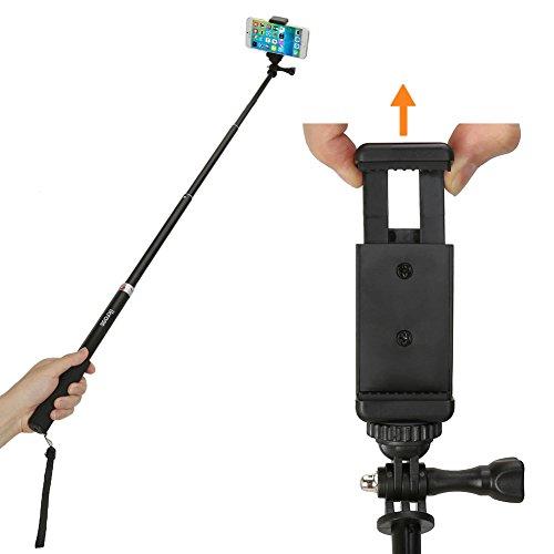 monopod selfie stick ikross smartphone camera monopod selfie handheld exte. Black Bedroom Furniture Sets. Home Design Ideas