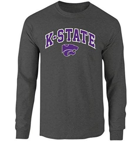 Kansas State Wildcats Long Sleeve Tshirt Arch Charcoal - L