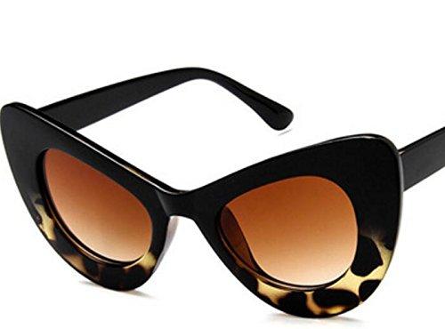 Leopard de UV400 de nbsp;Lunettes QWhing Chat Voyage Outdoor de Papillon de œil Soleil rétro Lunettes Soleil black Cadre 776qa