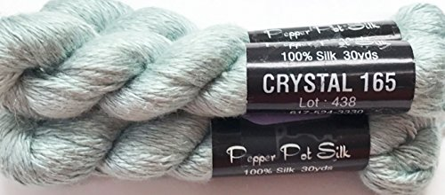 (Pepper Pot Silk -Single Ply-CRYSTAL-165- THIS LISTING IS FOR 1 SKEIN)