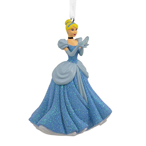 Hallmark Christmas Ornaments, Disney Cinderella Holding Glass Slipper Ornament Disney Princesses Collectible Ornaments