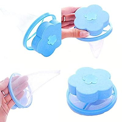 youeneomWashing Machine Filter Bag,Mesh Bag Hair Filter Net,Reusable Washing Machine Filter,Portable Hair Catcher Hair Removal Laundry Ball for Washing Machine Blue Pink 2Pcs (Blue+Blue): Beauty