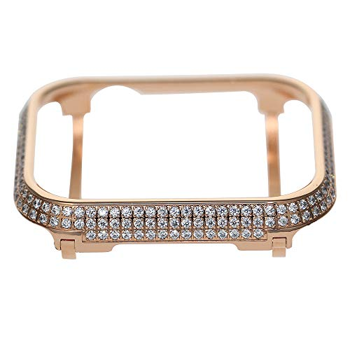 iRepair Sparkling Crystal Diamond Case Cover Bezel Compatible with Apple Watch Series 4 (Rose Gold, 40mm)