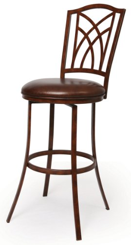 Impacterra Pastel Furniture KR-225-26-BE-972 Kyra Swivel Barstool, 26-Inch, Burnished Ember and Bonded Spice -