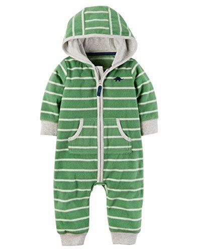 Carter's Baby Boys' Hooded Fleece Jumpsuit 12 Months,12 Months,Green