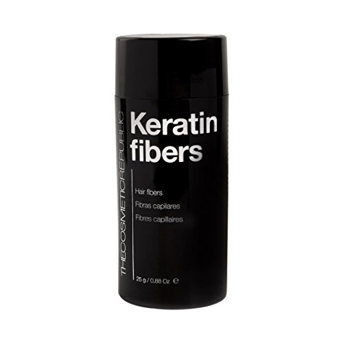 Amazon.com: The Cosmetic Republic Keratin Fibers, Black 25 g by The Cosmetic Republic: Beauty