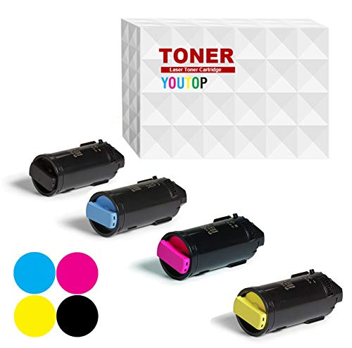 (YOUUDING Compatible 4-Pack Toner Cartridge for Xerox C500 C505 VersaLink Set of High Page Yield Black 5000 Cyan/Magenta/Yellow 5200 Pages)