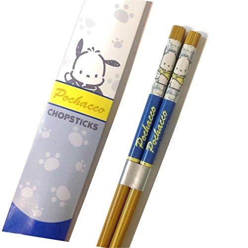 "Pochacco 1 Pair Bamboo Chopsticks 9"" / 22.5cm"